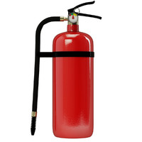 3d model extinguisher