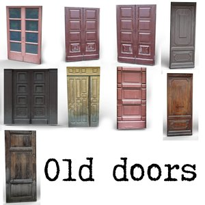 low-poly old doors 3d 3ds