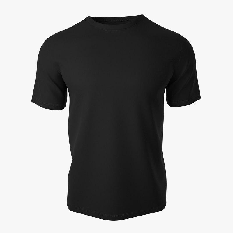 t shirt v2 black 3d max