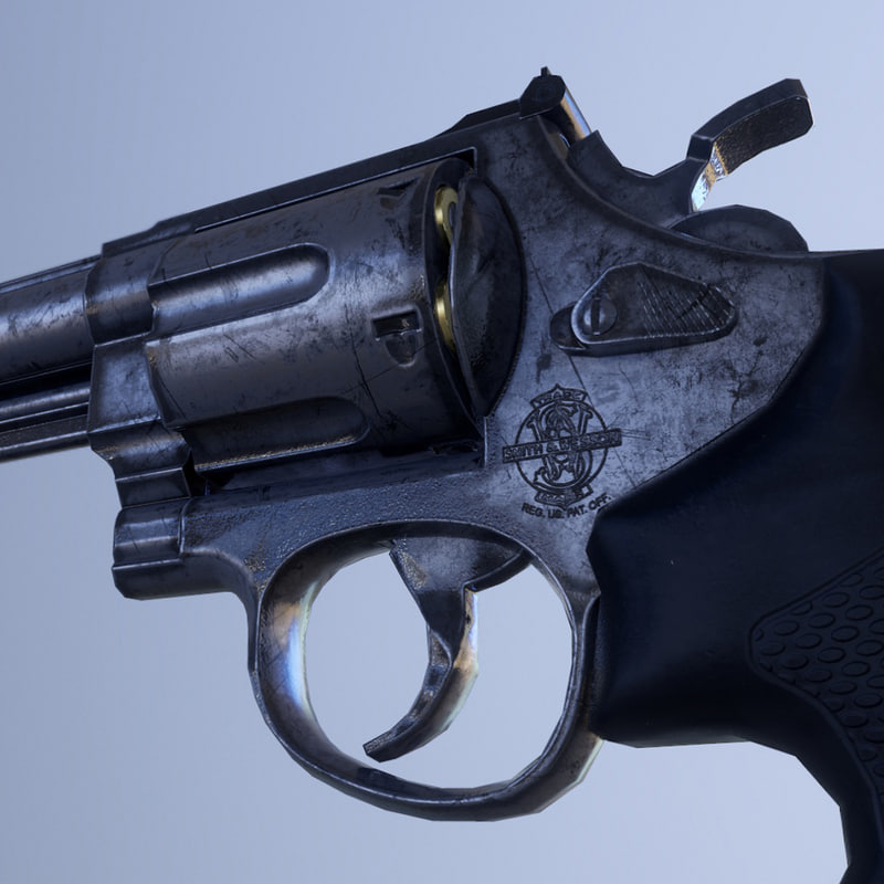 pbr smith wesson 629 3d model