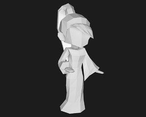 character papercrft 3d obj