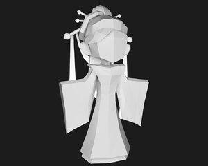3d papercraft character