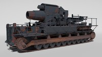 3d model tank moser karl 600mm