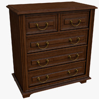 old chest drawers 3d 3ds