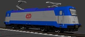 train engine class 380 3d model