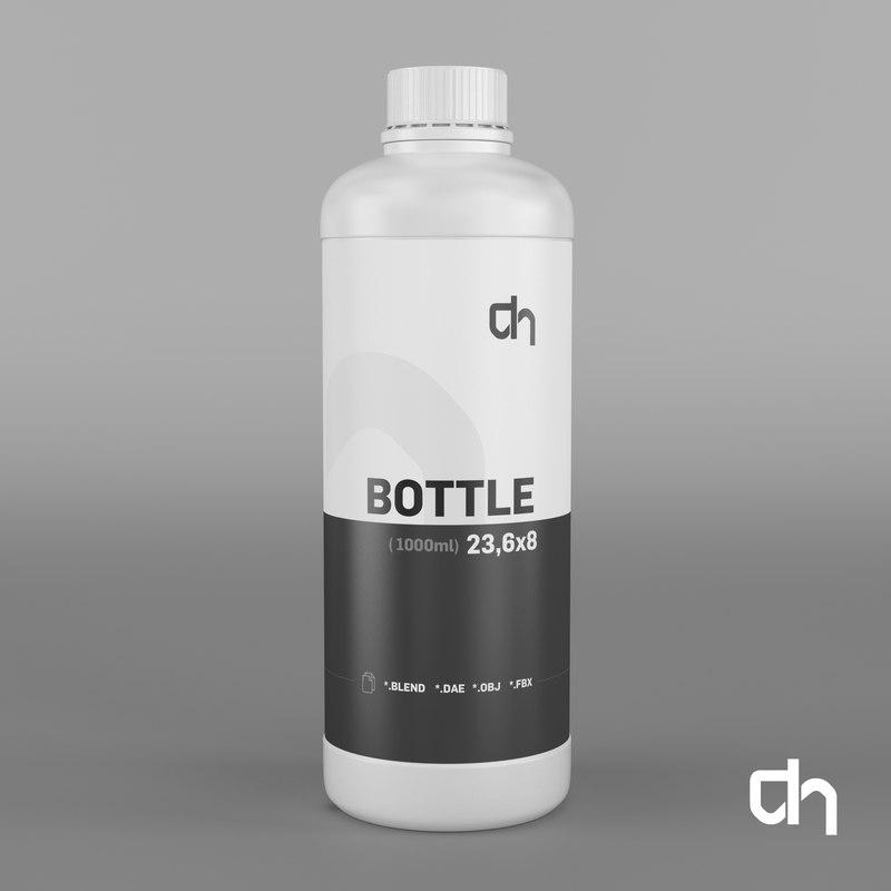 bottle 23 6x8 cm 3d blend
