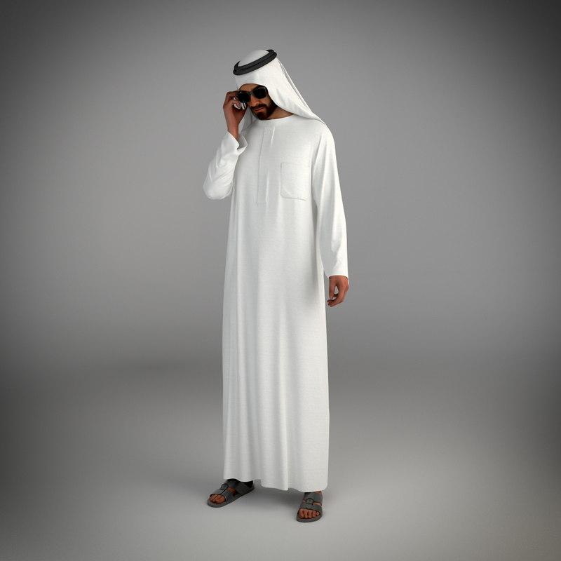 3d traditional arab man dubai