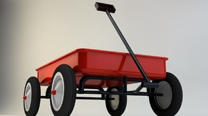generic kids wagon c4d
