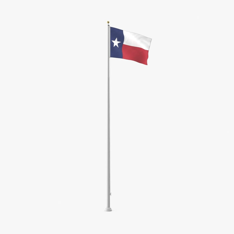 state-flags---texas 3d model