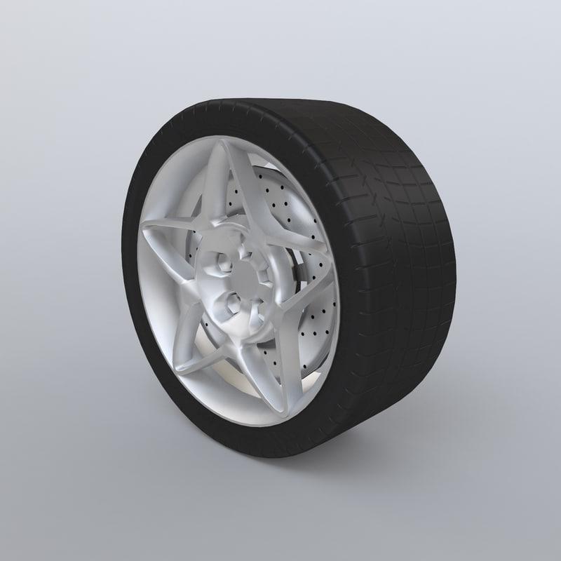 sport wheel tire 3d 3ds