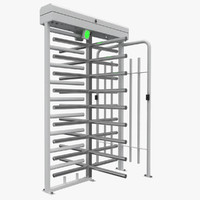 3d barrier gate model