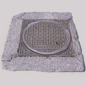 3d model photo scanned heating cover