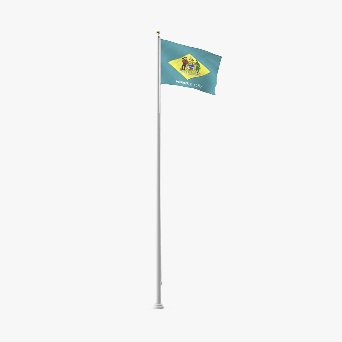 state-flags---delaware 3d model