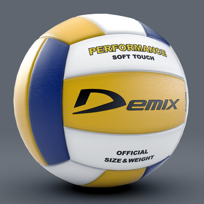 3d model volleyball 1