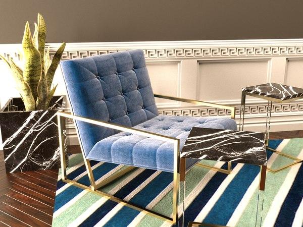 max jonathan adler goldfinger lounge chair
