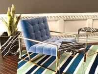 max jonathan adler goldfinger lounge chair