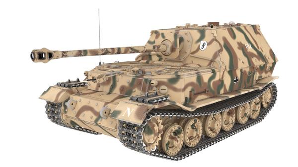 ferdinand tank 3d max