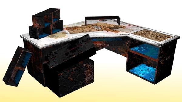 desk post-apocalyptic 3d 3ds