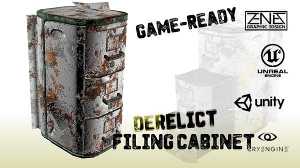 3d model postmodern filing cabinet
