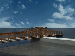 old northern ave bridge 3d model