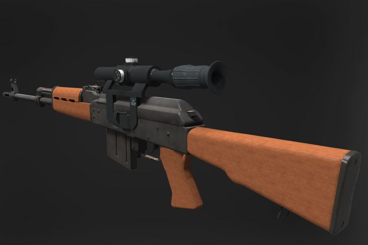 zastava sniper rifle m-76 3d 3ds