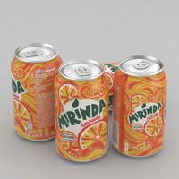 3d model of beverage mirinda 330ml 2017