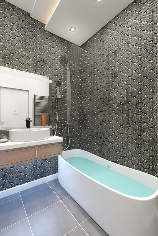 3d model of bathroom scene