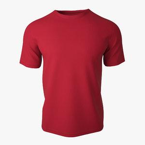 3d t shirt v2 red model