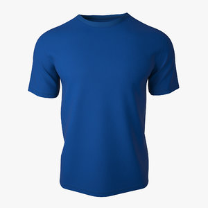 t shirt v2 blue 3d obj