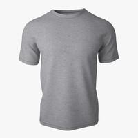 t shirt v2 grey 3d model