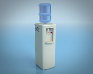 water cooler dispenser 3d model