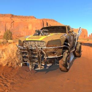 dodge charger wasteland mad 3d model