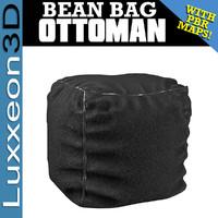 3d bean bag ottoman model