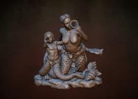 Nayada and Triton (3D print ready)