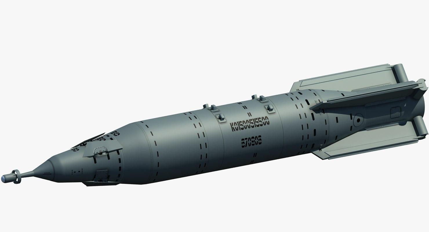 laser bomb kab-1500l 3d model
