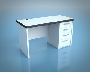 desk office 3d obj