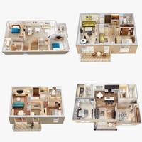 floor plan scenes 3d max