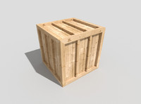 low poly wooden crate