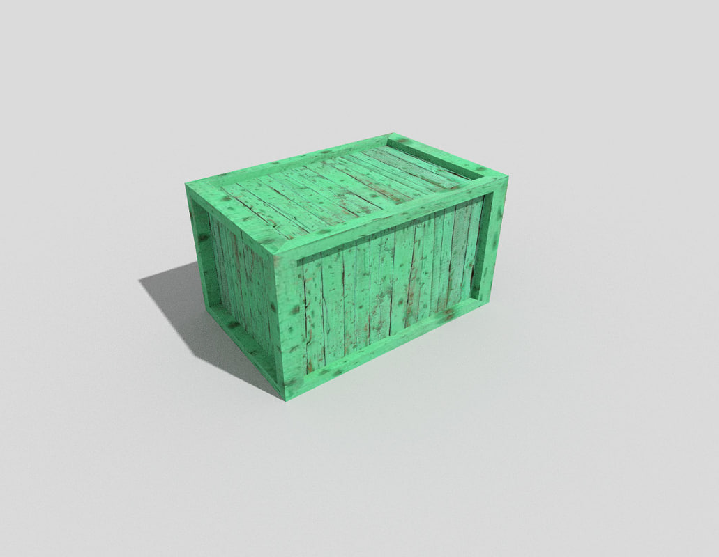 wooden crate 3d 3ds