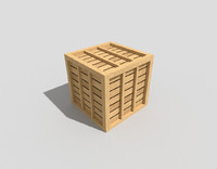 3d wooden crate modeled