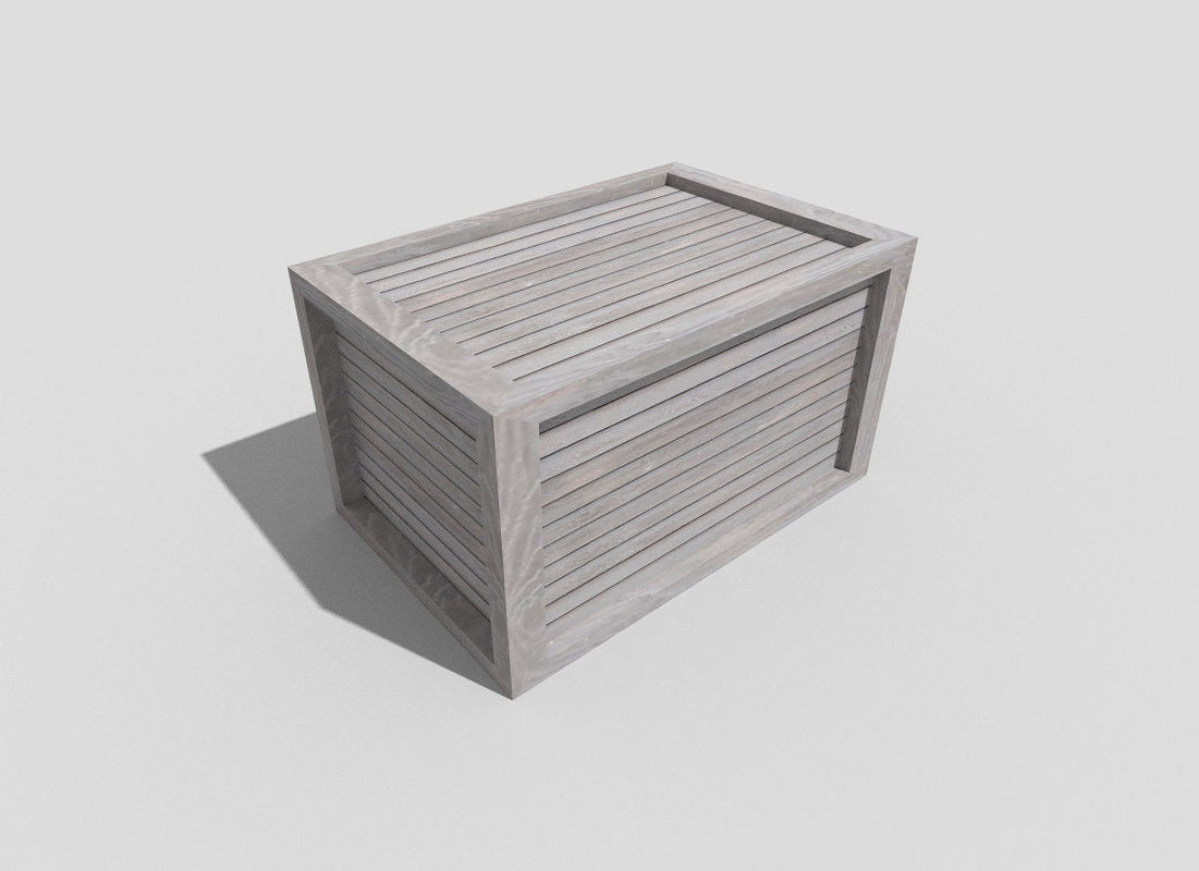 3ds wooden crate