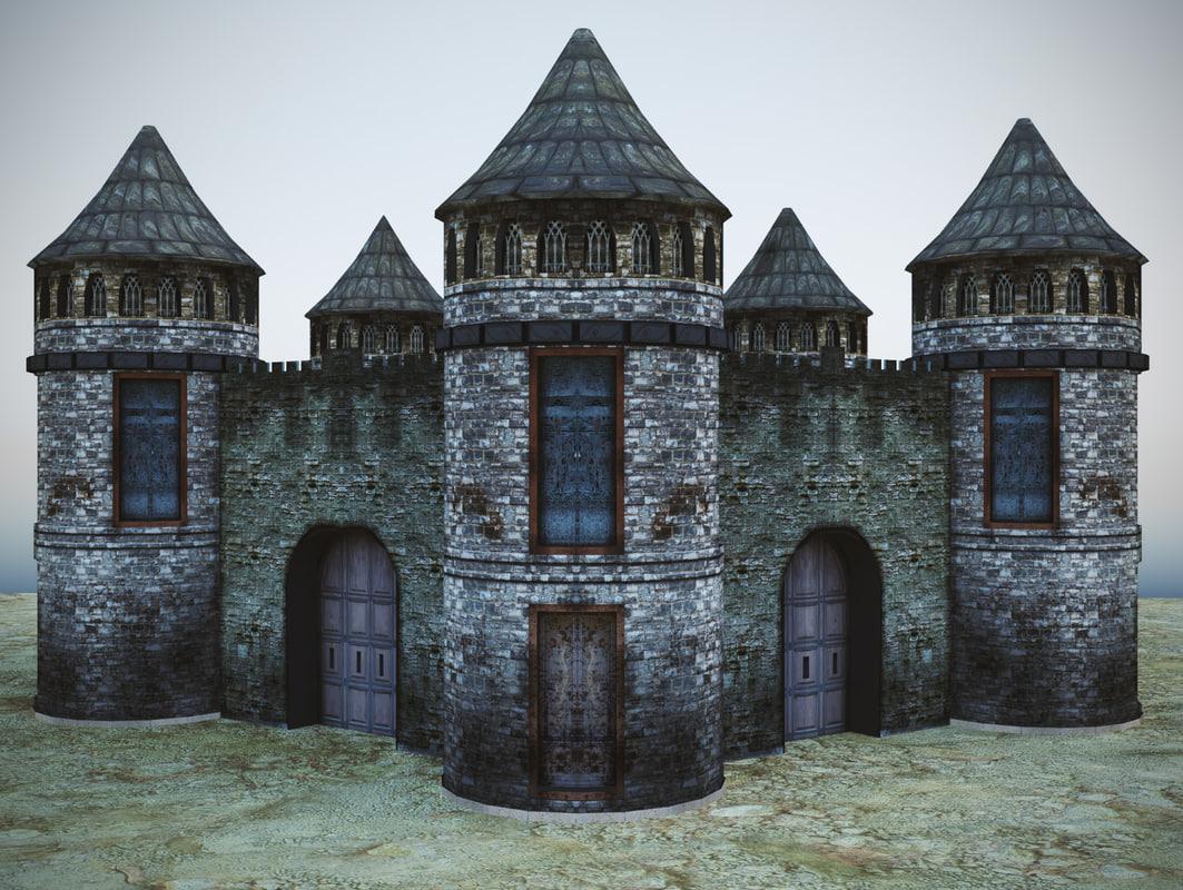 3d games castle model
