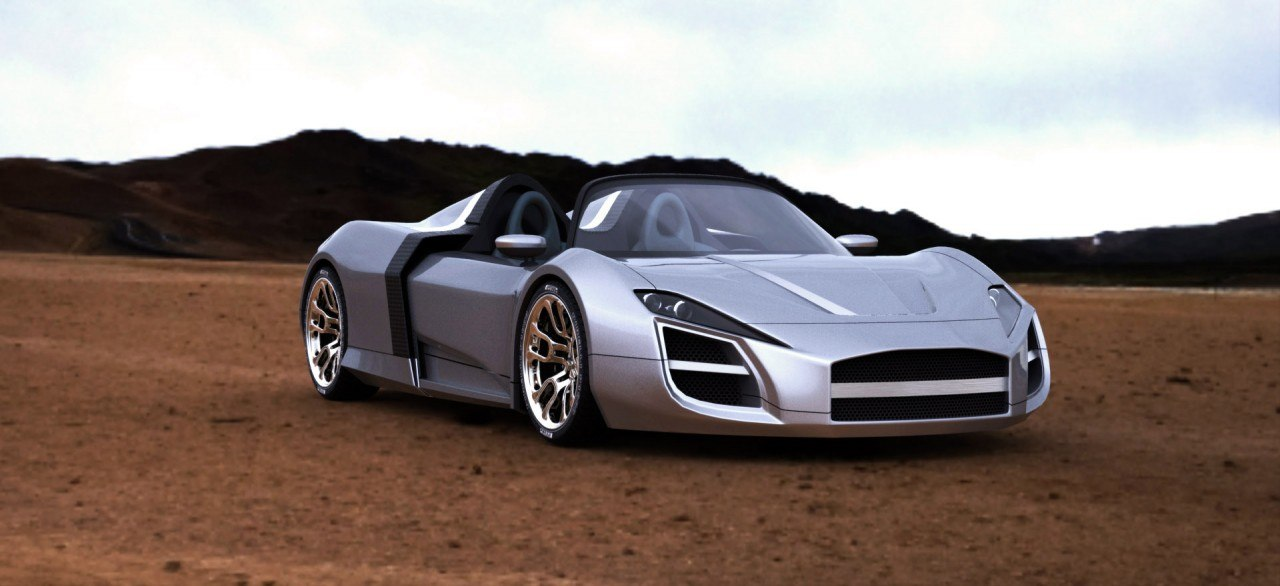 desert rose concept car 3d model