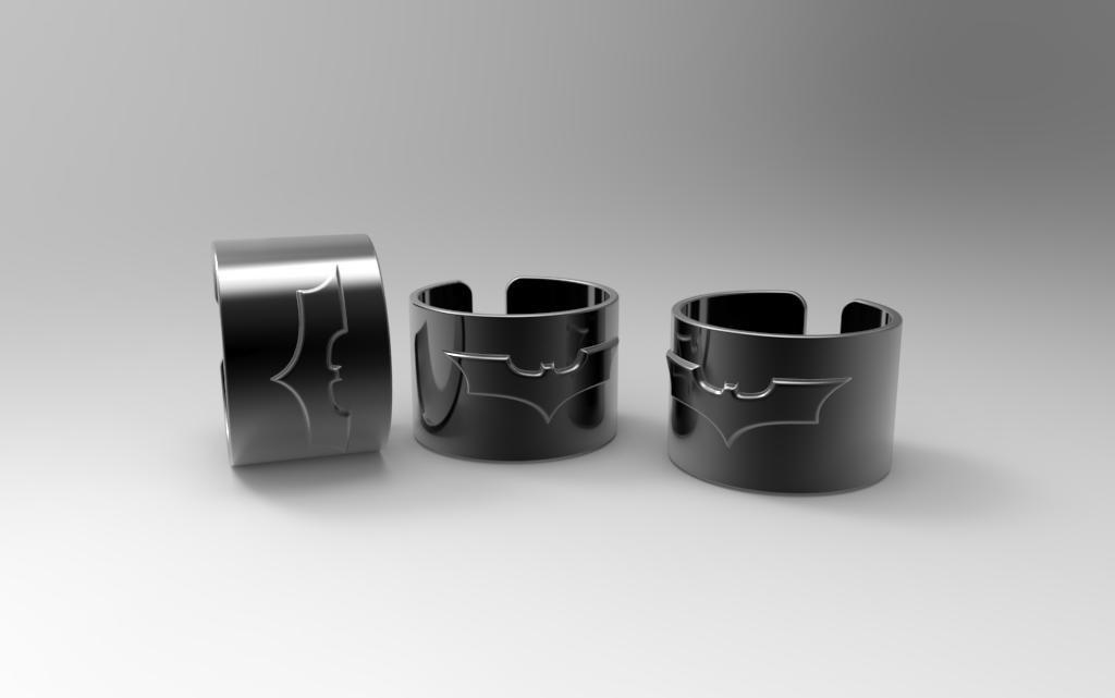3d batman ring