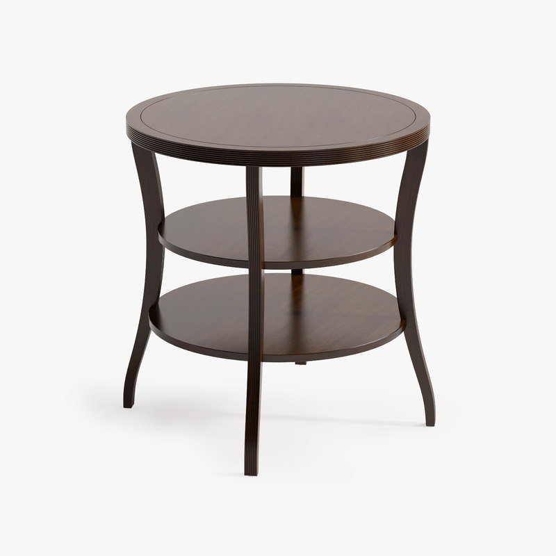 3d model baker tiered end table