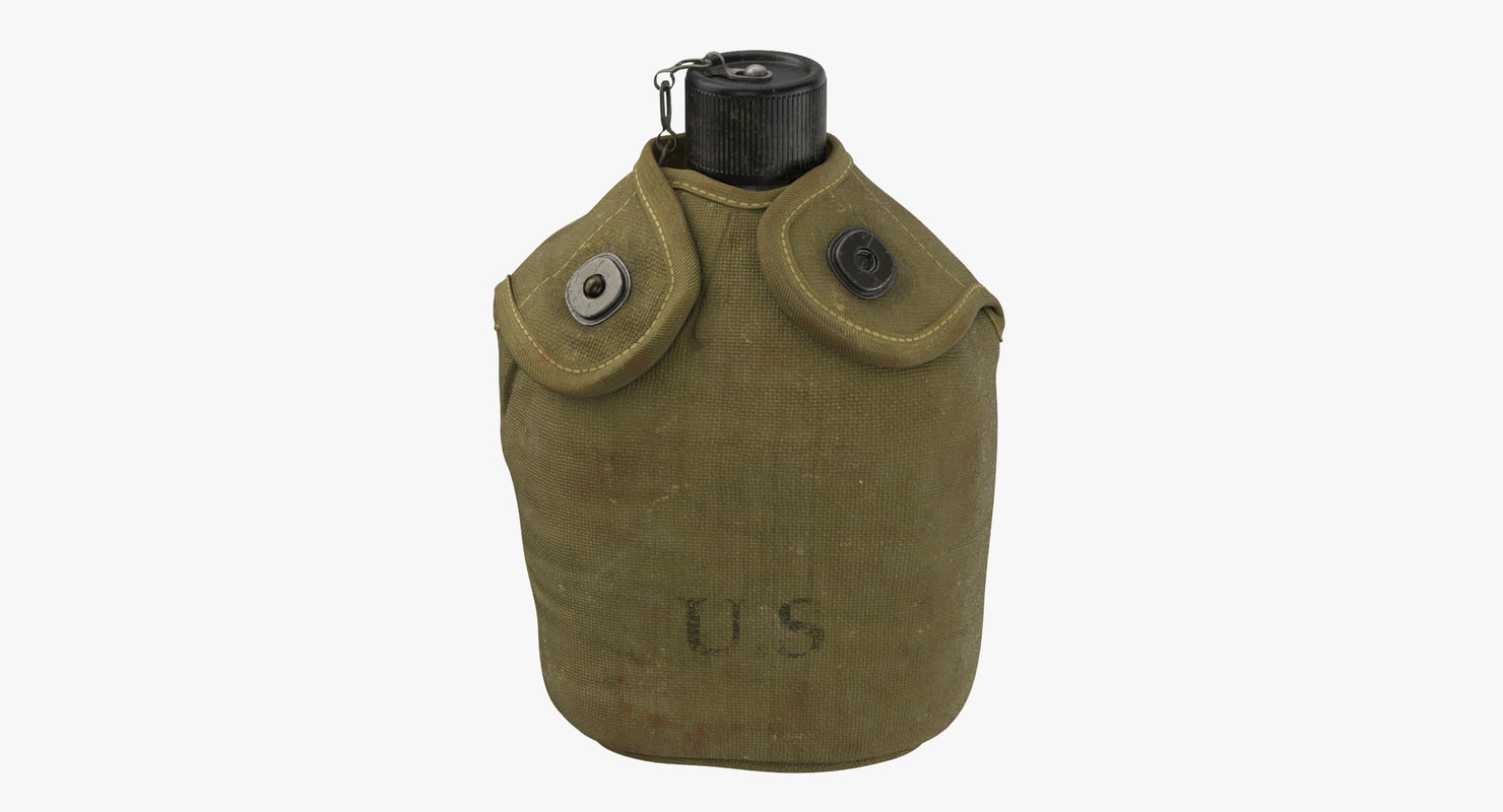 3d canteen cover wwii - model