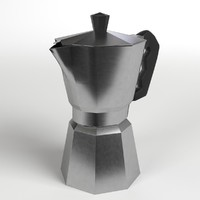 moka coffee pot 3d 3ds