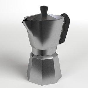 moka coffee pot 3d 3ds