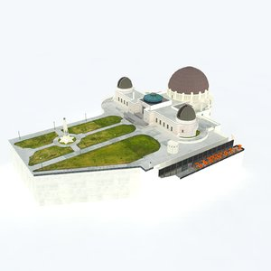 3d griffith observatory model