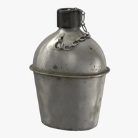 3d canteen wwii - model